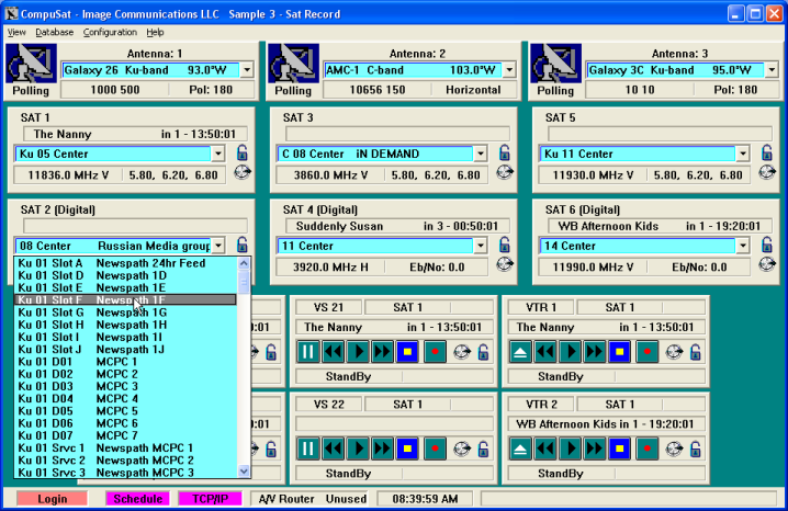 Controlling Satellite Receivers